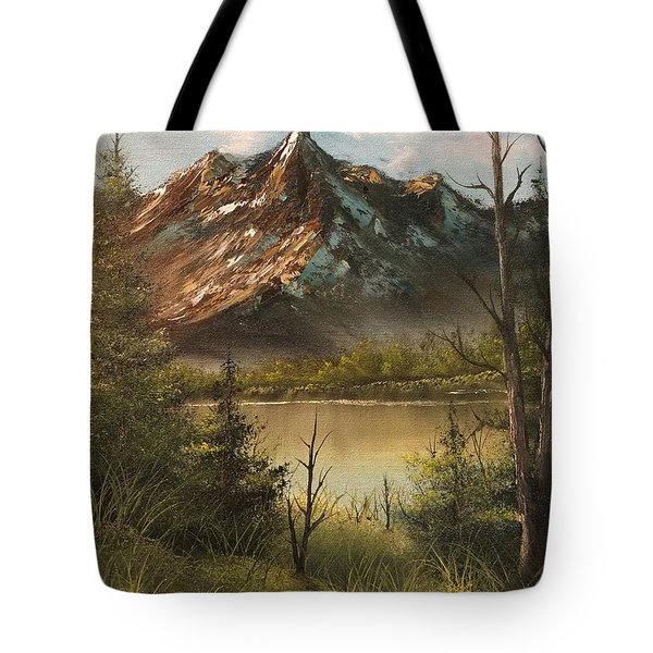 Lake View Mountain  Tote Bag