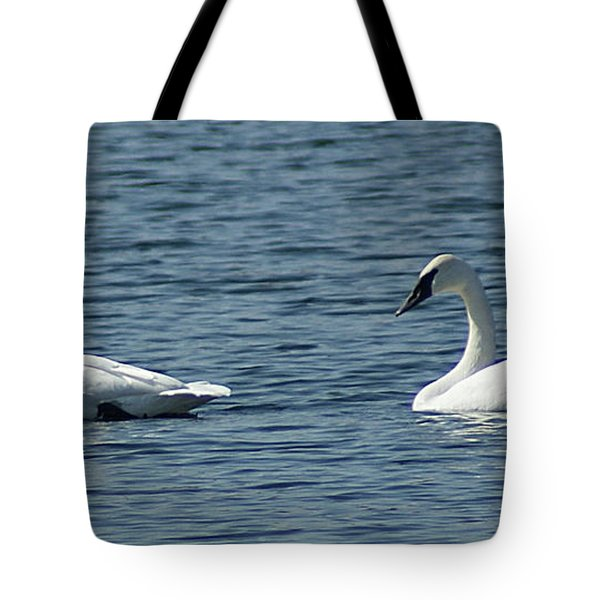 Lake Visiters Tote Bag by Rick Friedle