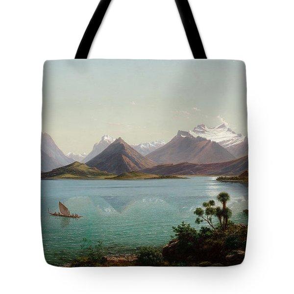Lake Wakatipu With Mount Earnslaw. Middle Island New Zealand Tote Bag