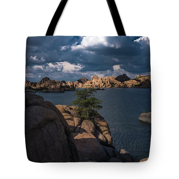 Tote Bag featuring the photograph Lake Watson Prescott Arizona 2498 by David Haskett