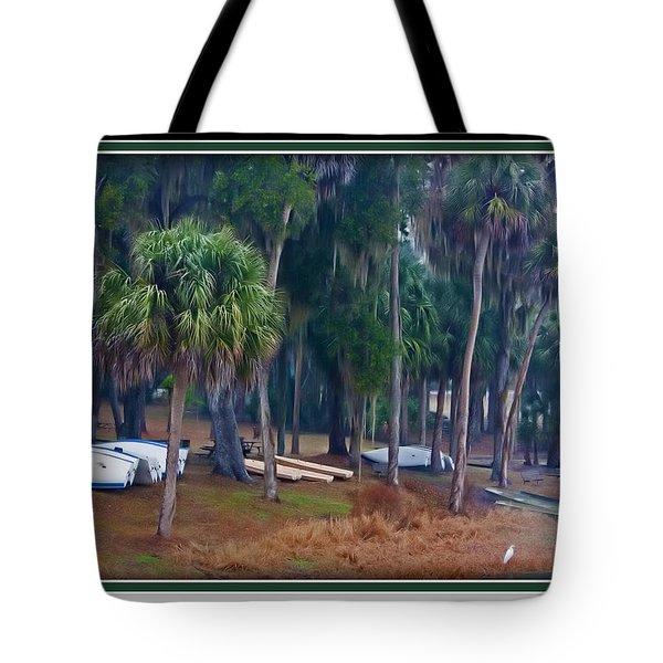 Lake Wauburg Rain Tote Bag