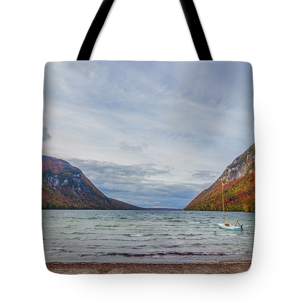 Lake Willoughby Blustery Fall Day Tote Bag