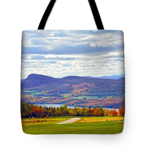 Lake Willoughby In Autumn Tote Bag by Catherine Sherman