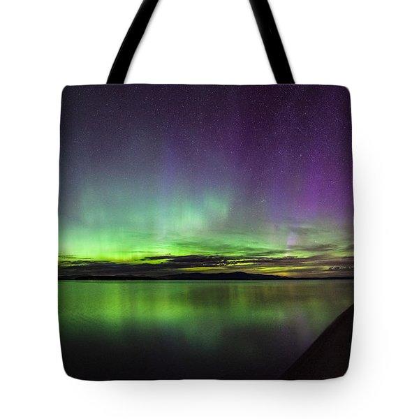Lake Winnipesaukee Aurora Tote Bag