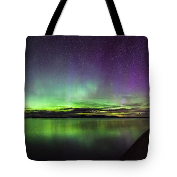 Lake Winnipesaukee Aurora Tote Bag