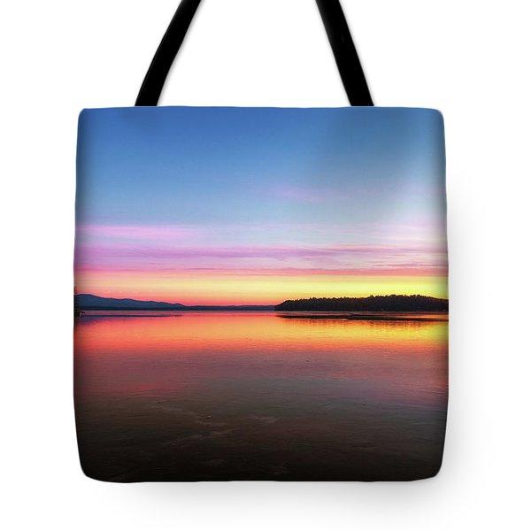 Lake Winnipesaukee Reflections Tote Bag