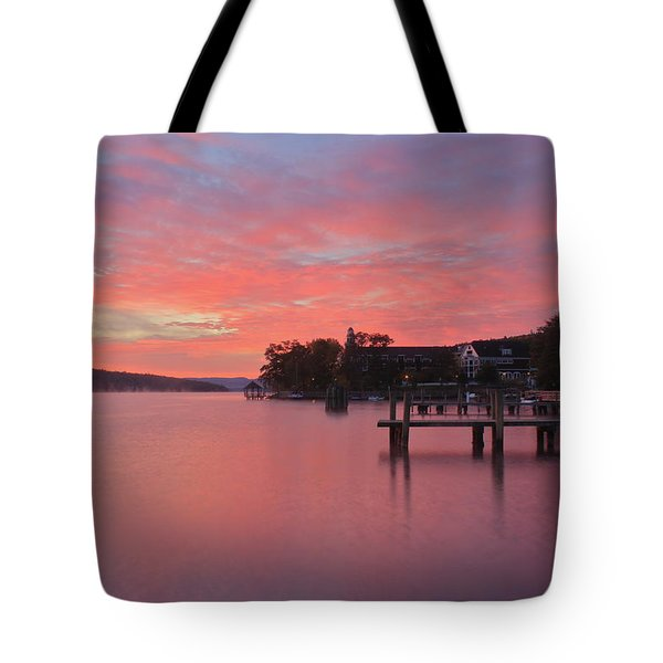 Lake Winnipesaukee Sunrise Tote Bag