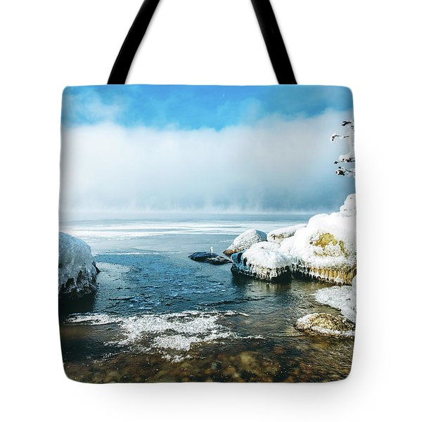 Tote Bag featuring the photograph Lake Winnisquam by Robert Clifford