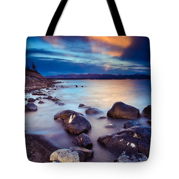 Lake Yellowstone Tote Bag by Inge Johnsson