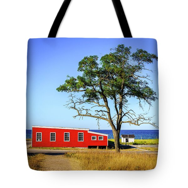Tote Bag featuring the photograph Lakefront In Glen Arbor by Alexey Stiop