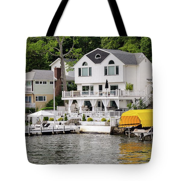 Lakefront Living Hopatcong Tote Bag by Maureen E Ritter