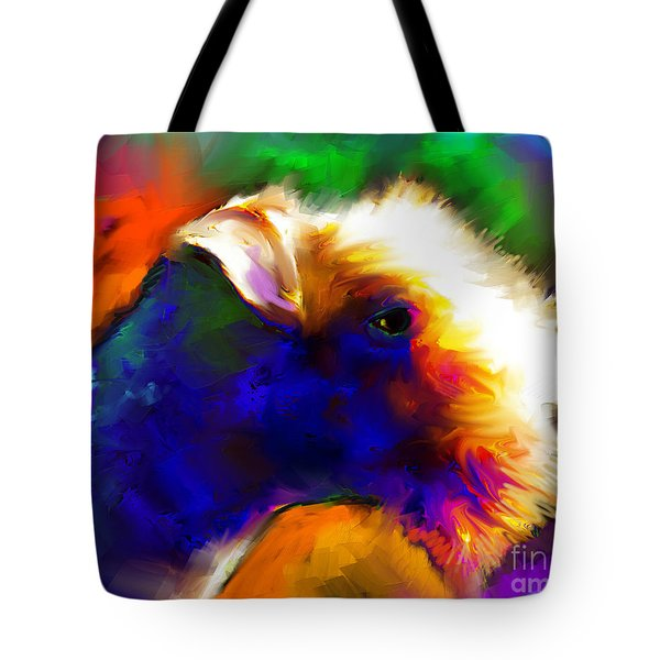 Lakeland Terrier Dog Painting Print Tote Bag by Svetlana Novikova