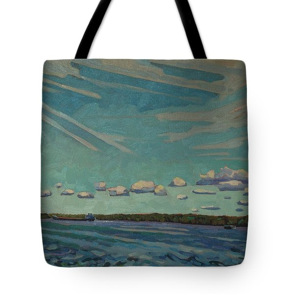Laker Headed Downstream Tote Bag by Phil Chadwick