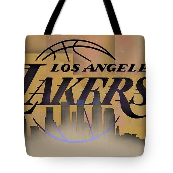 Lakers Skyline Tote Bag