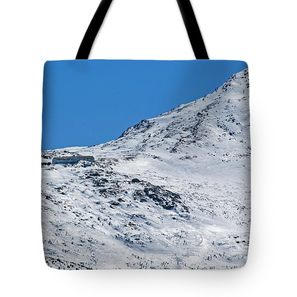 Lakes Of The Clouds Hut And Mount Monroe Tote Bag