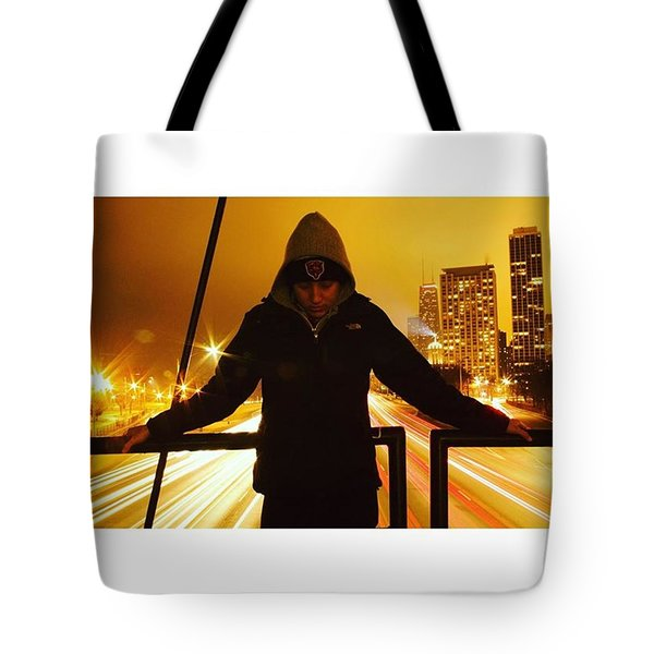 Lakeshore Drive Portrait Tote Bag