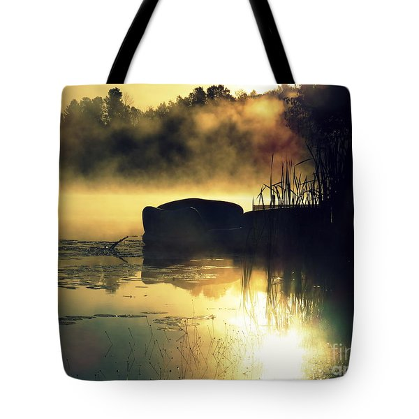 Tote Bag featuring the photograph Lakeshore by France Laliberte