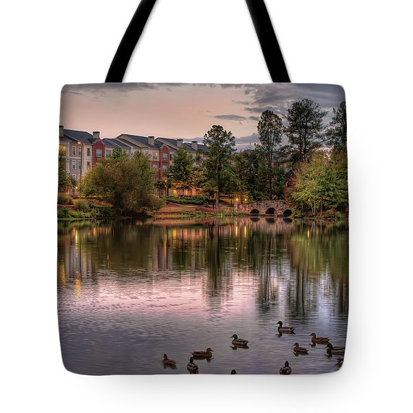Lakeside At Milton Park Tote Bag