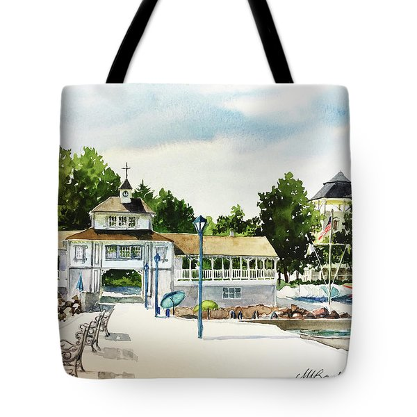 Lakeside Dock And Pavilion Tote Bag