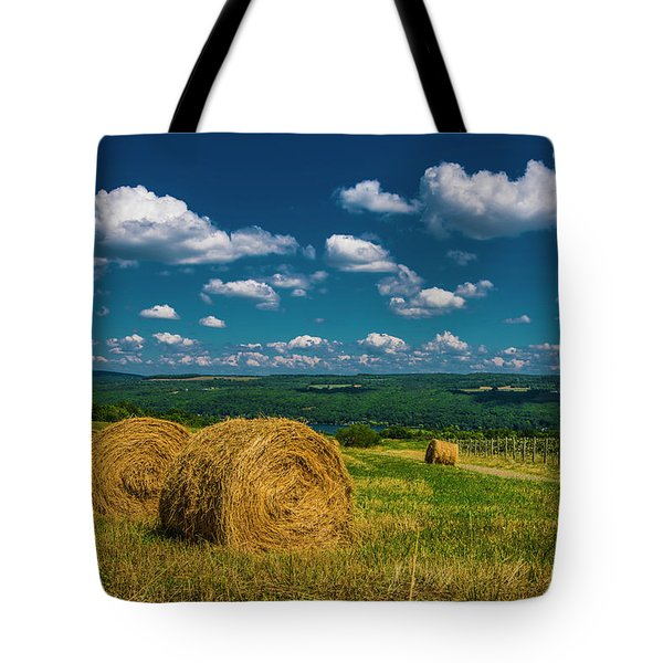 Lakeside Hayfield I Tote Bag