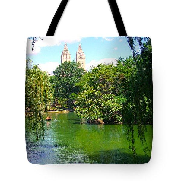 Lakeside In Manhattan, New York Tote Bag