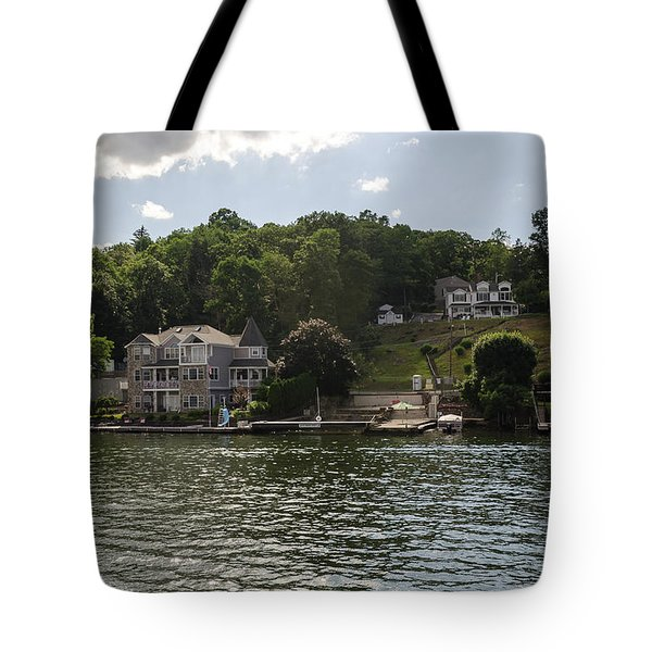 Lakeside Living Hopatcong Tote Bag by Maureen E Ritter
