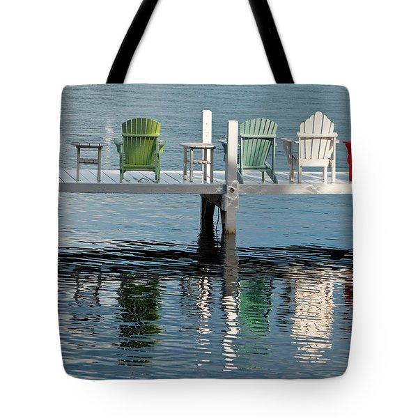 Lakeside Living Tote Bag by Steve Gadomski