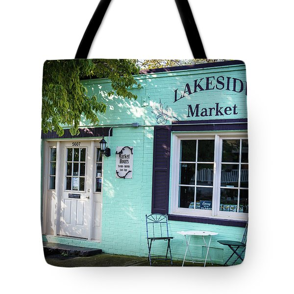 Tote Bag featuring the photograph Lakeside Market by Doug Camara