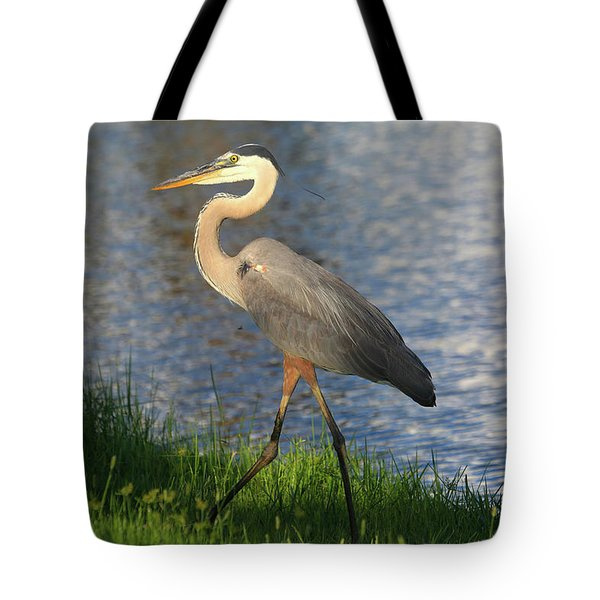 Tote Bag featuring the photograph Lakeside Stroll by Donna Kennedy
