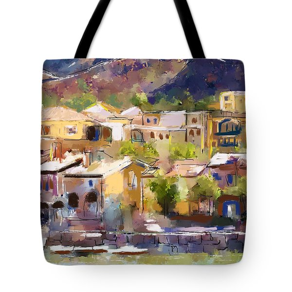 Lakeside Village Tote Bag