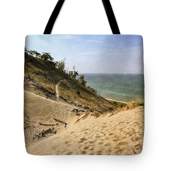 Tote Bag featuring the photograph Laketown Dune Panorama by Michelle Calkins