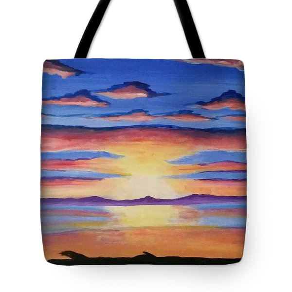 Lakeview Sunset Tote Bag