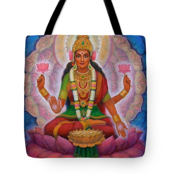 Tote Bag featuring the painting Lakshmi Blessing by Sue Halstenberg