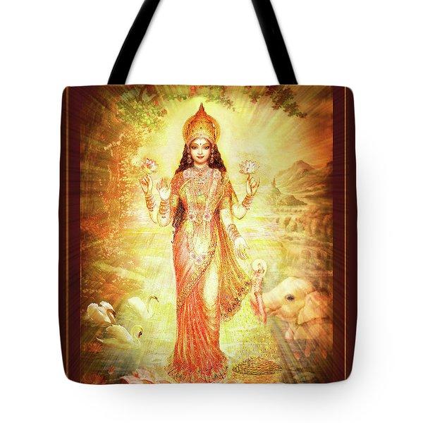 Lakshmi Goddess Of Fortune Tote Bag by Ananda Vdovic