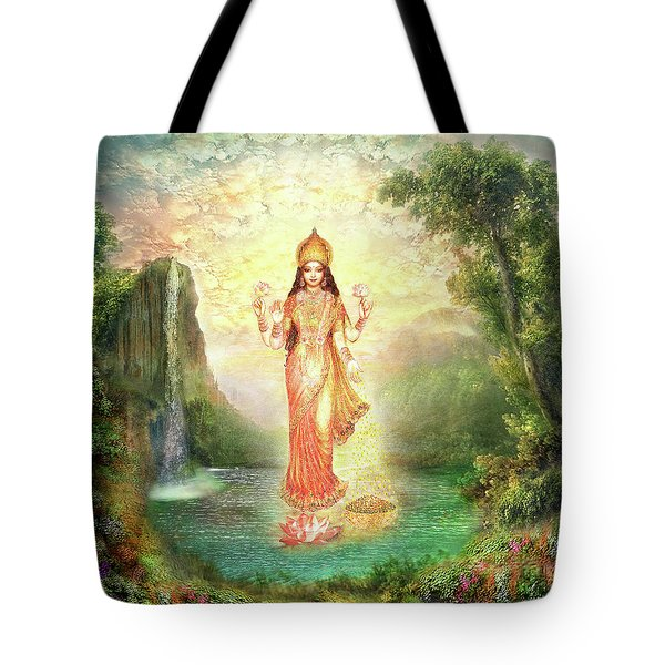 Lakshmi With The Waterfall 2 Tote Bag