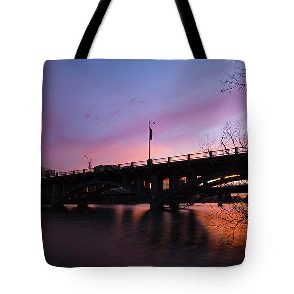 Lamar Blvd Bridge Tote Bag