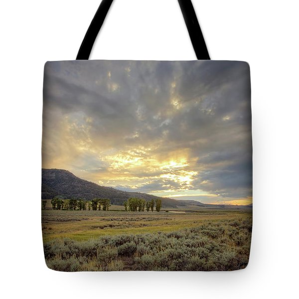 Lamar Valley Sunset Tote Bag