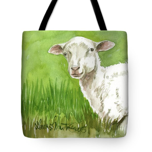 Lamb In Spring Tote Bag