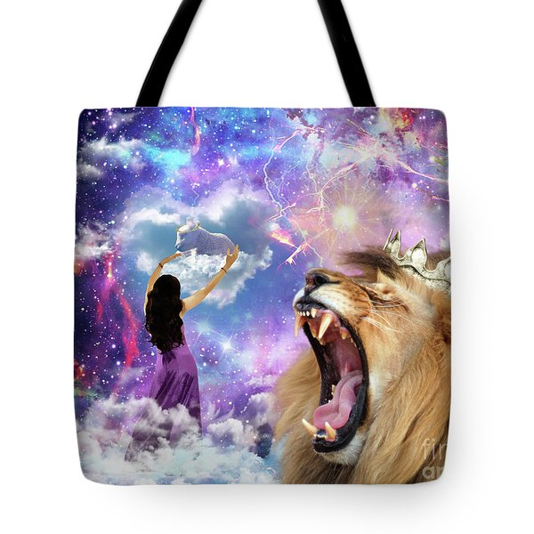 Tote Bag featuring the digital art Lamb Of God by Dolores Develde