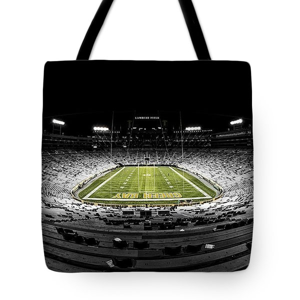 Lambeau Field At Night Tote Bag