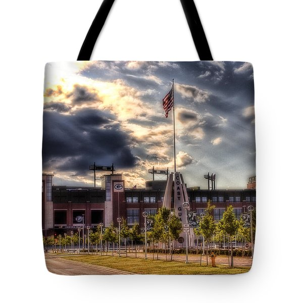 Lambeau Field Awakes Tote Bag