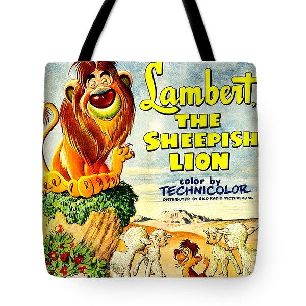 Lambert The Sheepish Lion, 1952 Walt Disney Cartoon Tote Bag