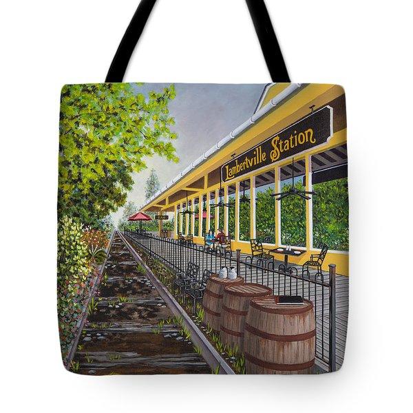 Lambertville Station Tote Bag