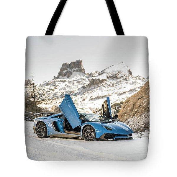 Lamborghini Aventador Sv Tote Bag