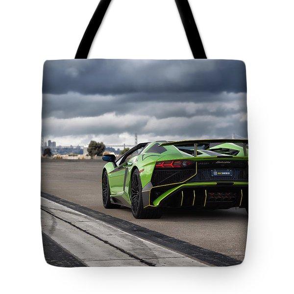 #lamborghini #aventadorsv #superveloce #roadster Tote Bag