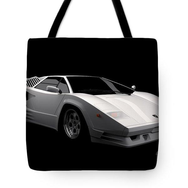 Lamborghini Countach 5000 Qv 25th Anniversary Tote Bag