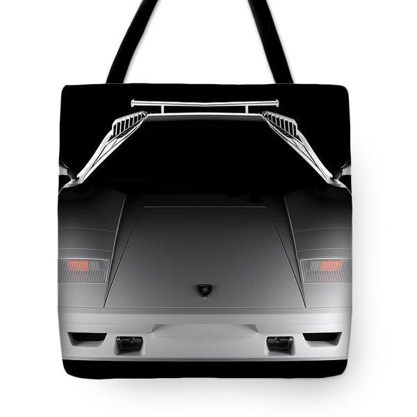Lamborghini Countach 5000 Qv 25th Anniversary - Front View  Tote Bag