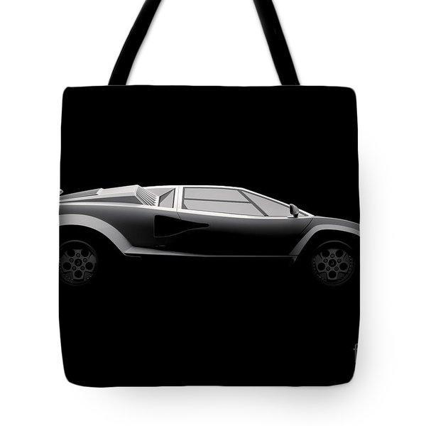 Lamborghini Countach 5000 Qv 25th Anniversary - Side View Tote Bag