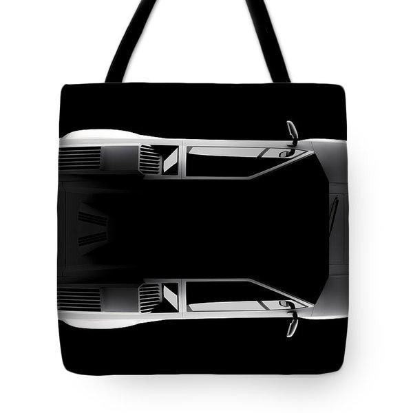 Lamborghini Countach 5000 Qv 25th Anniversary - Top View Tote Bag