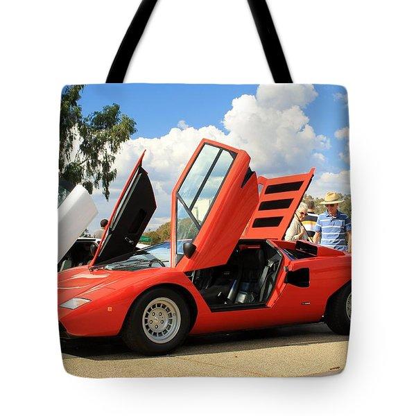 Lamborghini Countach Lp400 Tote Bag